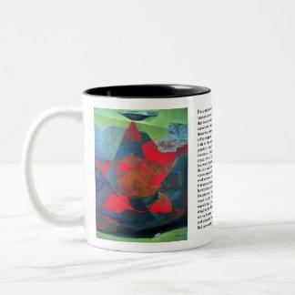 Abstract Landscape of Potosi Bolivia 21.9 x 27.6 Two-Tone Coffee Mug