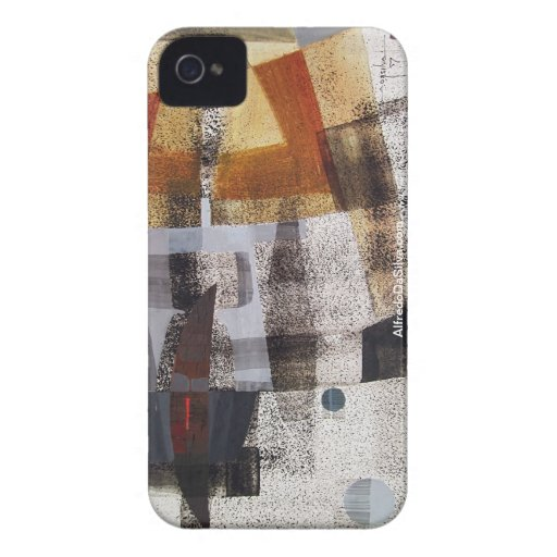 Abstract Landscape of Potosi Bolivia 27.3x19.9 Case-Mate iPhone 4 Cases
