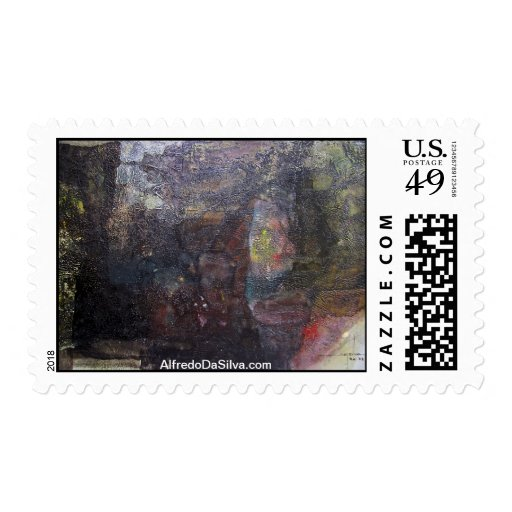 Abstract Landscape of Potosi Bolivia 30.3x23.6 Postage Stamp