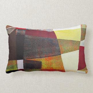 Abstract Landscape of Potosi Bolivia 33x22.6 Lumbar Pillow