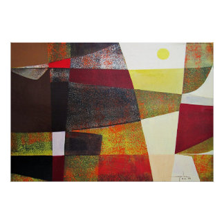 Abstract Landscape of Potosi Bolivia 33x22.6 Poster