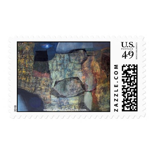 Abstract Landscape of Potosi Bolivia Stamps