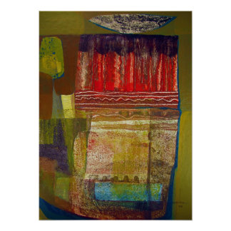 Abstract Landscape Potosi 16.6x22.75 Poster