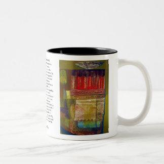 Abstract Landscape Potosi 16.6x22.75 Two-Tone Coffee Mug