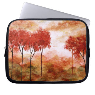 Abstract Landscape Red Trees Art Burning Promise Laptop Sleeves