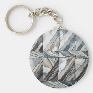 Abstract Landscape restoring itself Keychain