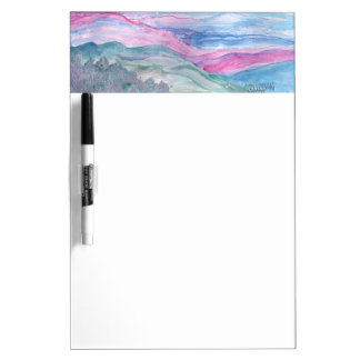 Abstract Landscape Smokey mountains Dry Erase Board