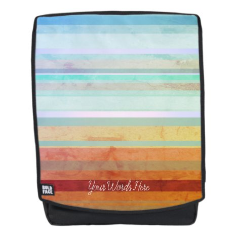 Abstract Landscape Stripes & Your Words Backpack