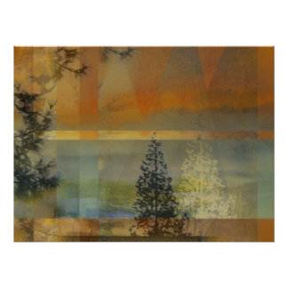 Abstract Landscape Two Posters