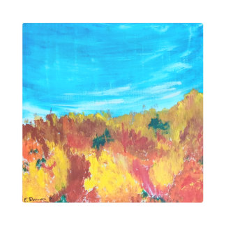 Abstract Landscape Wall Art Fall Colors