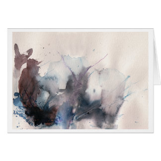 abstract landscape watercolor card