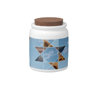 Abstract landscape with geometrical shapes candy dishes
