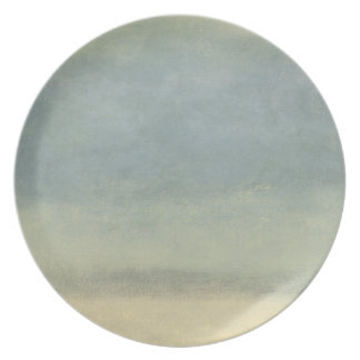Abstract Landscape with Overcast Sky Melamine Plate