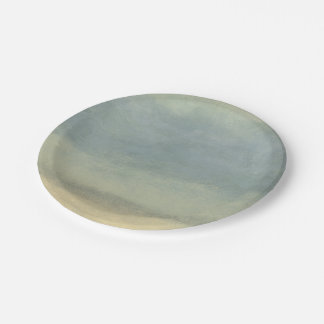 Abstract Landscape with Overcast Sky Paper Plate