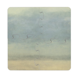 Abstract Landscape with Overcast Sky Puzzle Coaster
