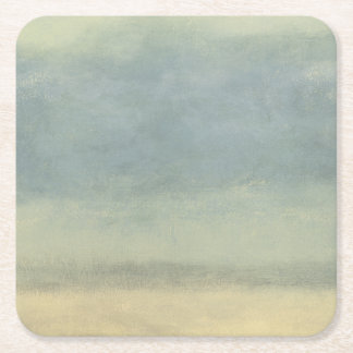Abstract Landscape with Overcast Sky Square Paper Coaster