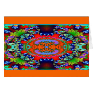 Abstract Lap 74 Card