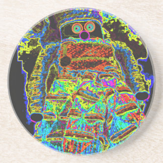 Abstract Lappenpop Doll Drink Coaster