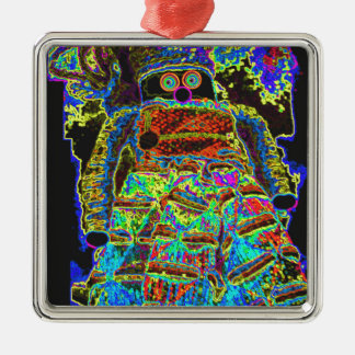 Abstract Lappenpop Doll Metal Ornament