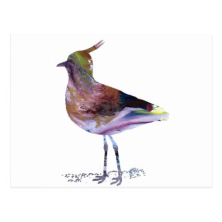 Abstract lapwing silhouette postcard