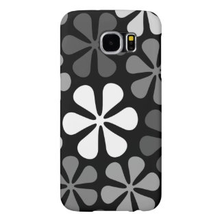 Abstract Large Flowers Monochrome Samsung Galaxy S6 Case