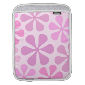 Abstract Large Flowers Pinks Sleeve For iPads
