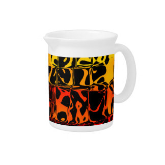 Abstract Lava Beverage Pitcher
