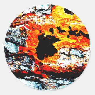 "Abstract ""lava"" classic round sticker"