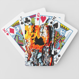 """Abstract """"lava"""" deck of cards"""