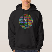 Abstract Layers of Color Hoodie