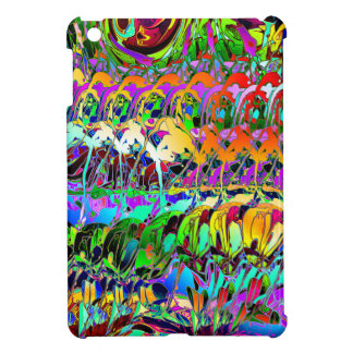 Abstract Layers of Color iPad Mini Covers