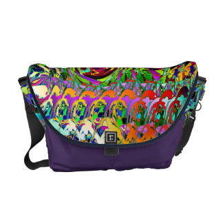 Abstract Layers of Color Messenger Bag