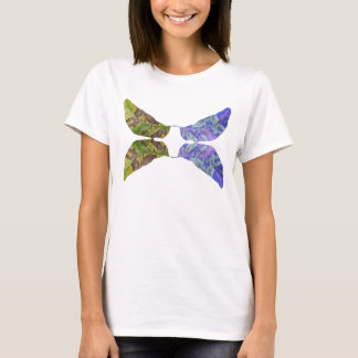 Abstract Leaf Butterfly T-Shirt