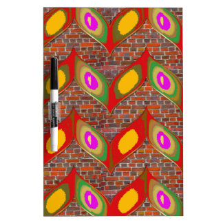 Abstract leaf design on brick wall goodluck gifts Dry-Erase board