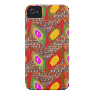Abstract leaf design on brick wall goodluck gifts iPhone 4 case