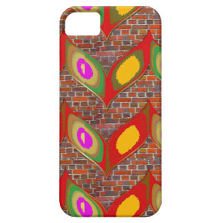 Abstract leaf design on brick wall goodluck gifts iPhone SE/5/5s case