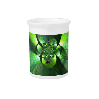Abstract Leaf Fox Art Beverage Pitcher