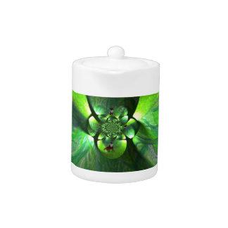 Abstract Leaf Fox Art Teapot