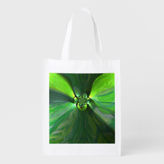 Abstract Leaf Fox Pattern Grocery Bag