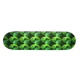 Abstract Leaf Fox Pattern Skateboard