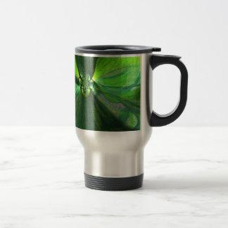 Abstract leaf fox pattern travel mug