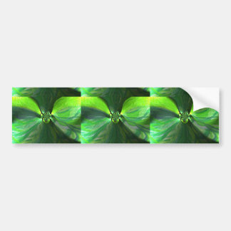 Abstract Leaf Fox Swirl Bumper Sticker