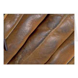 Abstract Leather baseball glove Greeting Cards