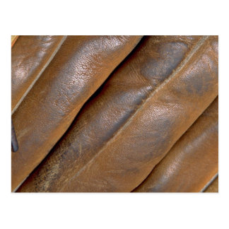 Abstract Leather baseball glove Post Card