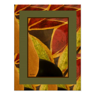 Abstract Leaves 3 Poster