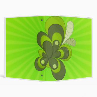 Abstract Leaves 3 Ring Binder