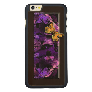 Abstract Leaves and Butterfly Phone Case - Purple