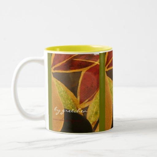 Abstract Leaves Coffee and Tea Mug
