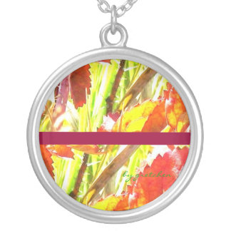 Abstract Leaves in Pastel Necklace