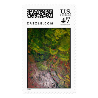 ABSTRACT LEAVES IN THE GARDEN POSTAGE